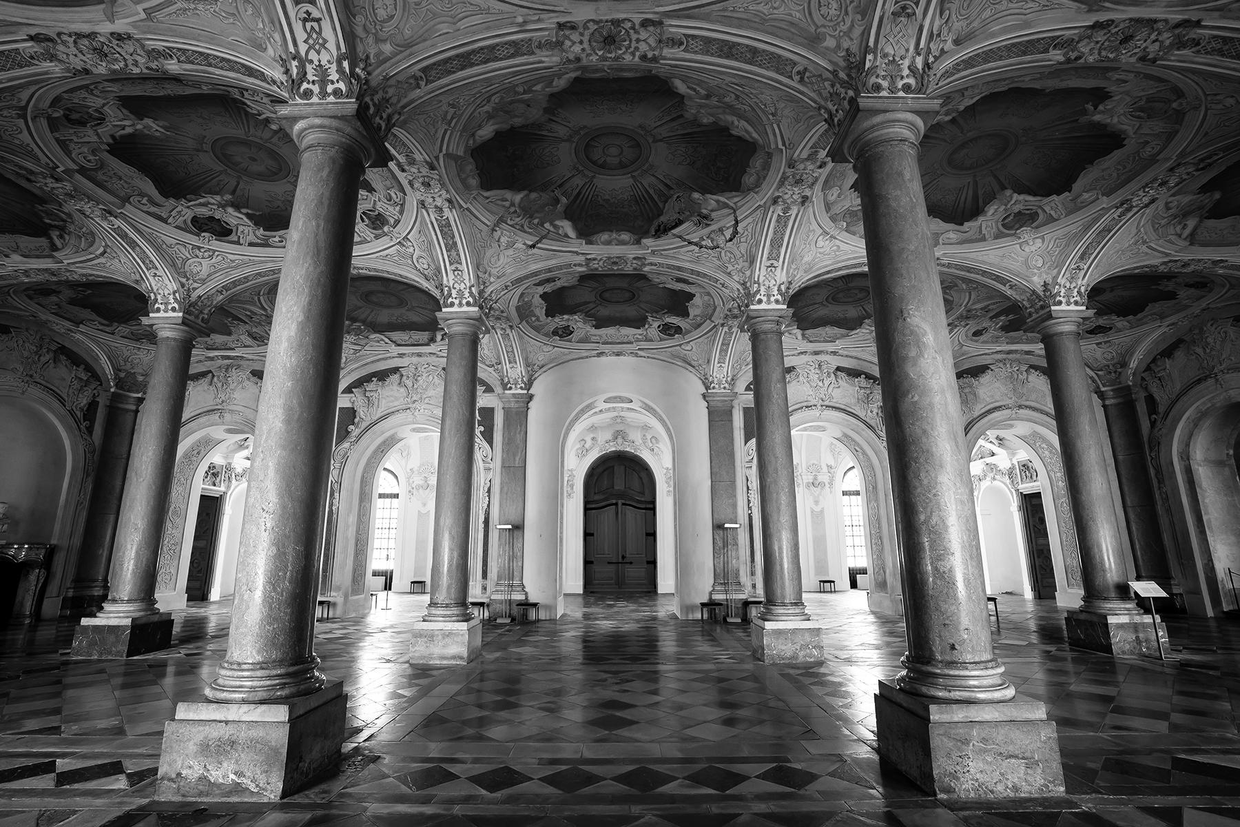 Shadowplay by Moritz Hormel contemporary photography of a palace interior