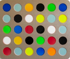 Dots 3 by Daniel Engelberg - Large Contemporary painting on MDF with epoxy resin