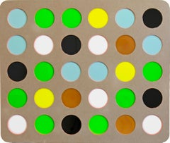 Water Dots by Daniel Engelberg - Large Contemporary painting on MDF with resin