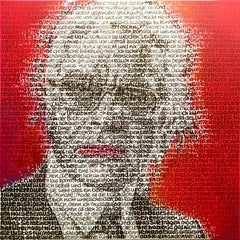 Strichjunge -Karl Lagerfeld by SAXA Contemporary painting through lyrics