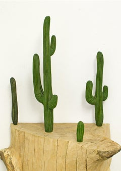Close to Nature Cacti by Isabel Ritter - Contemporary wood carved sculpture