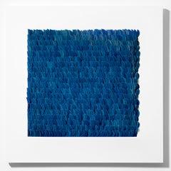Mountain Bluebird by Monika Radhoff-Troll - Contemporary Mixed Media Collage