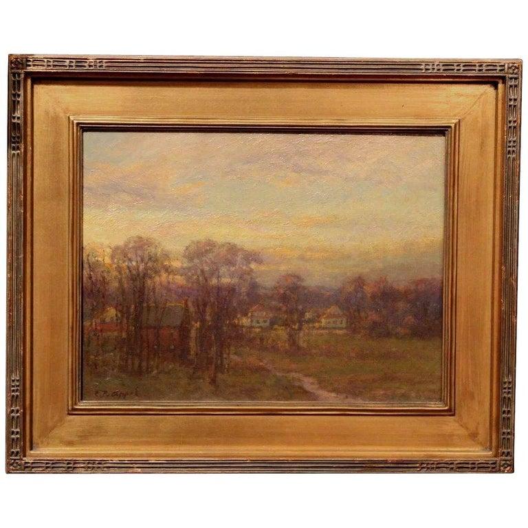 Charles P. Appel Landscape Painting - Tonalist Landscape