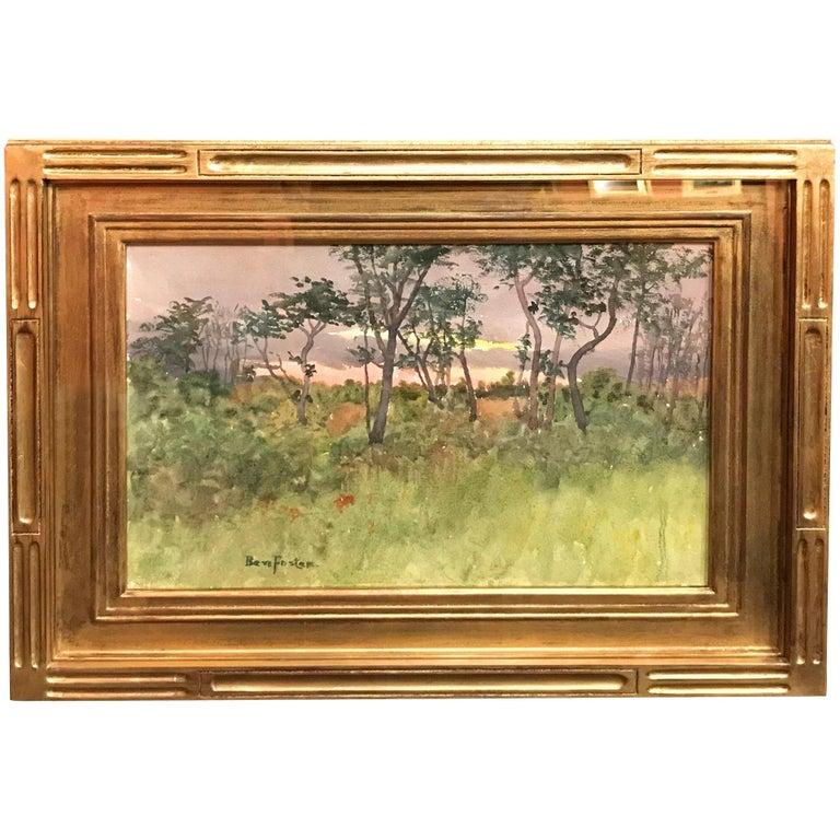 Benjamin Foster Landscape Painting - New England Sunset Landscape