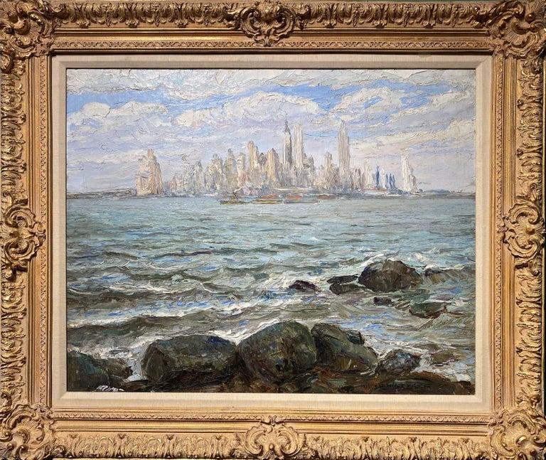 Francis Vandeveer Kughler Landscape Painting - View of New York City