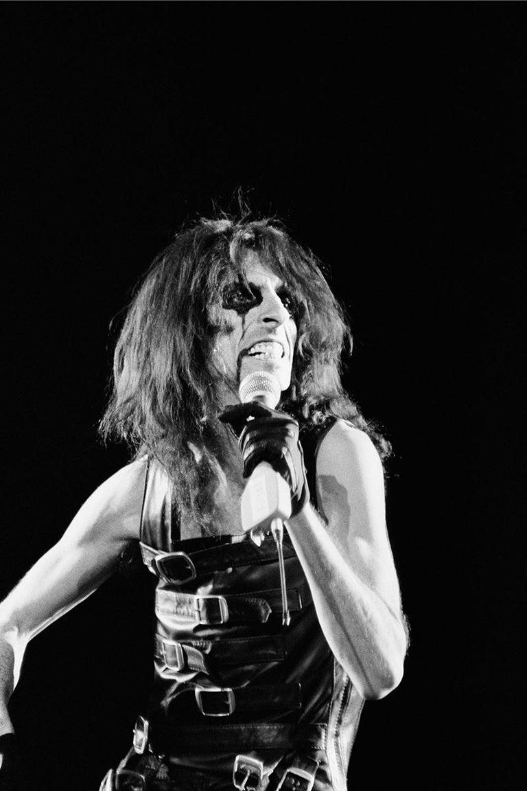 Tamara F Black and White Photograph - Alice Cooper, Oakland Coliseum [0051_0011]