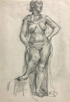 Untitled (Female Figure) [Draped Standing Nude]