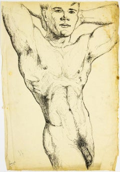Flexing Male Nude