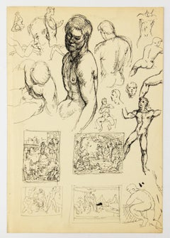 Many Figure Studies and Studies for Compositions with Groups