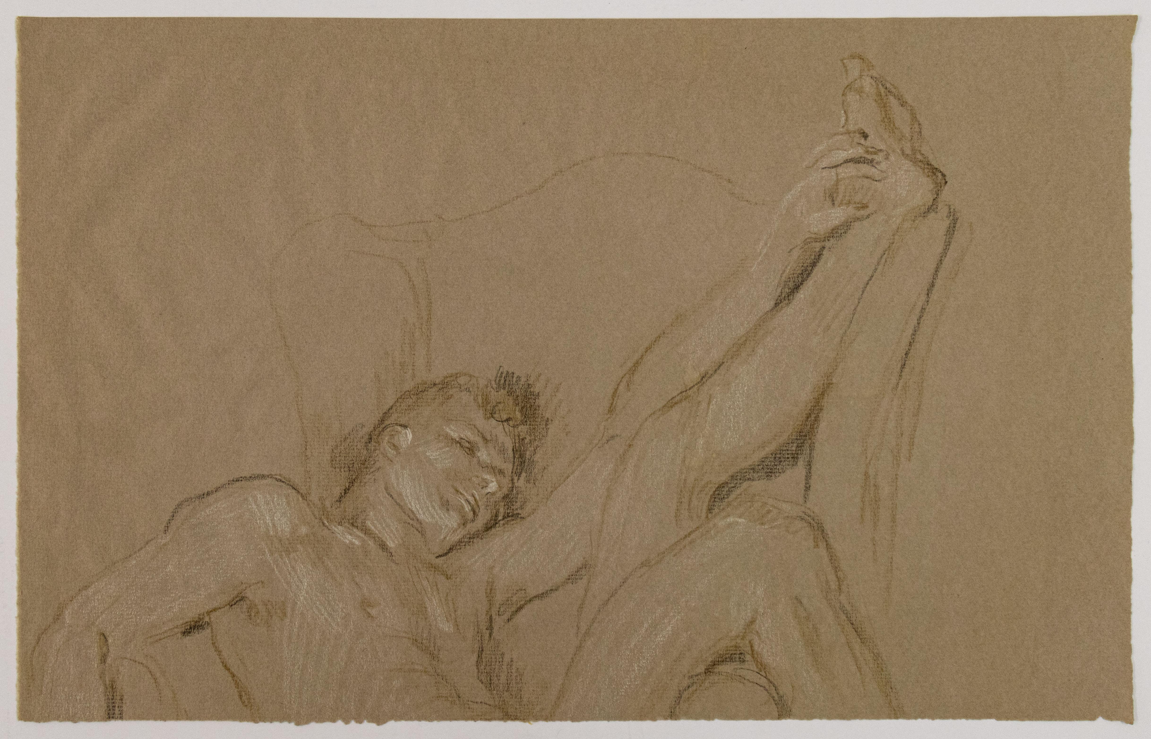 Male Figure with Raised Leg