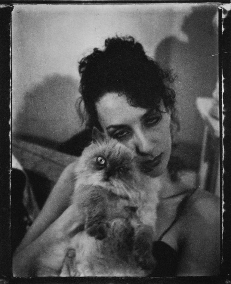 Mark Morrisroe Portrait Photograph - Untitled (Janet with Cat)