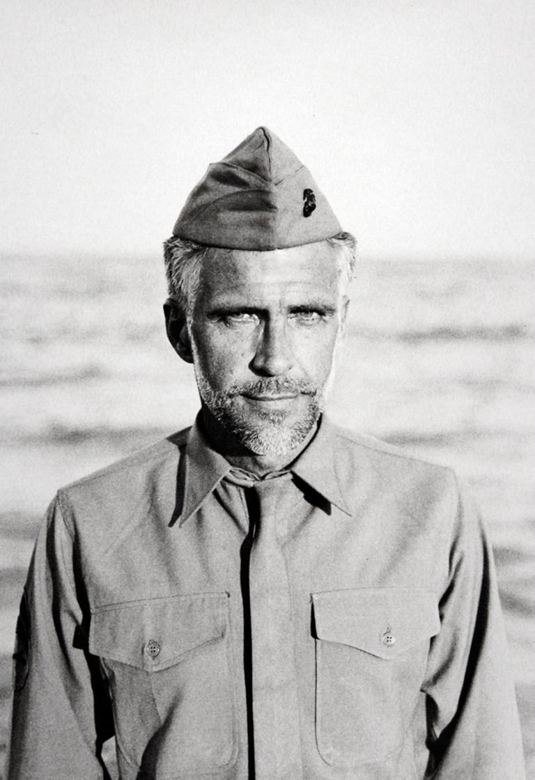 Joe Ovelman Black and White Photograph - Marine Corps Uniform, c. 1970 (Detail #20)