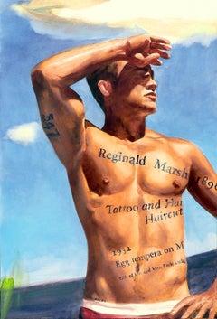 Reginald Marsh: Tattoo and a Haircut (#547)