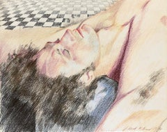 Untitled (Man Reclining on Tile Floor)