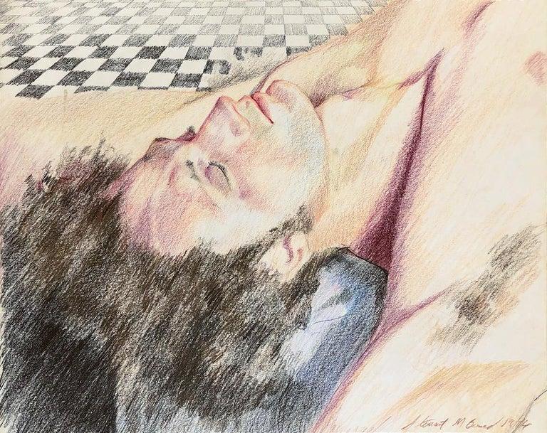 Mark Beard Portrait - Untitled (Man Reclining on Tile Floor)