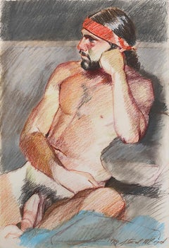 Brown Nude Drawings and Watercolours