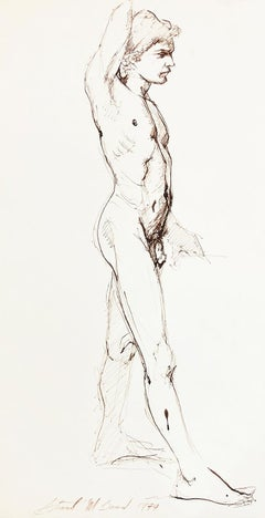 Untitled (Standing Male Nude Facing Right)