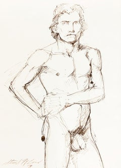 Untitled (Male Nude with Hands on Waist)