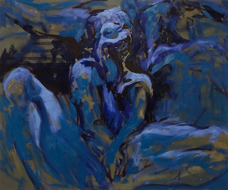 Bedtime Blues - Mixed Media Art by Julia Jueun Jo
