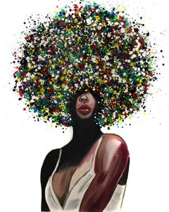Woman with Abstract Hair