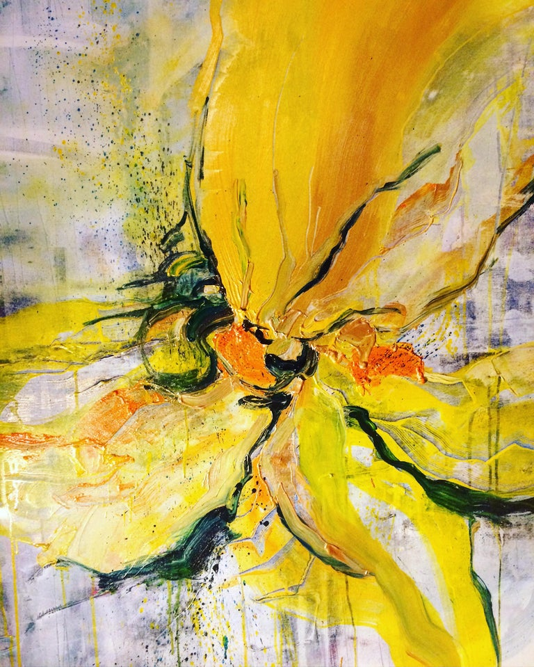 Andrea Ehret Abstract Painting - Yellow Power
