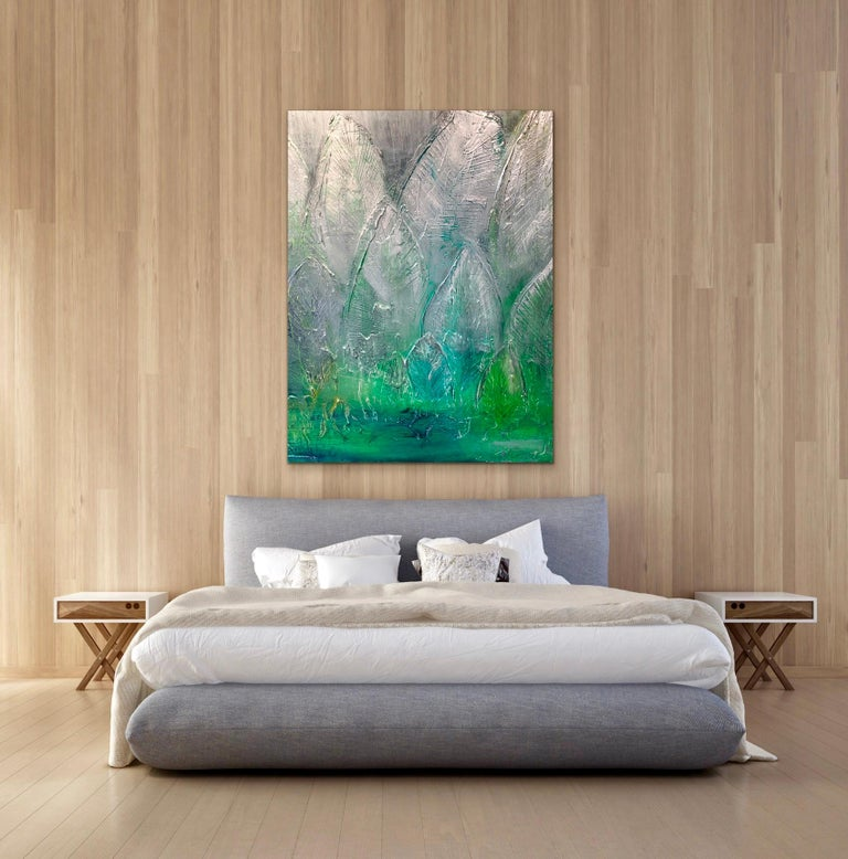 Original Artwork   Acrylic, alcohol, oil stick and mixed media on canvas  Artist Bio: Due to her children's life and death medical experiences- Heather Lynn walks through life with an altered perspective. She creates large-scale abstract paintings