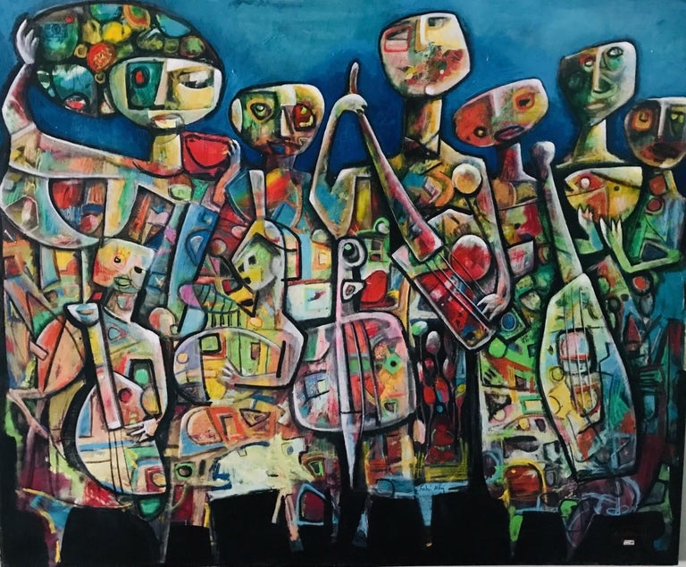 Fahri Aldin Abstract Painting - Musicians