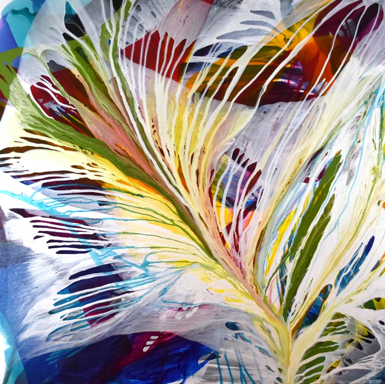 Kate Browning Word Abstract Painting - God Gives us Roots and Wings