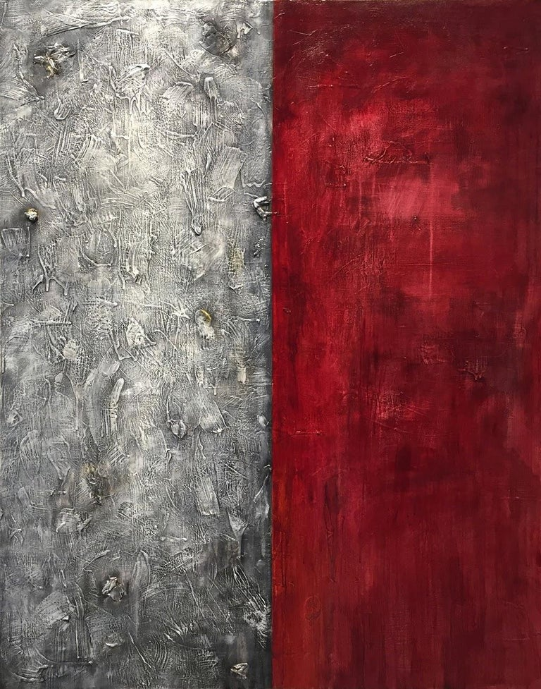 Nancy Thayer Abstract Painting - Diversity I - Mixed Media on Canvas - 60 x 48 in.
