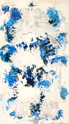 Electric Blue I - Original on Canvas
