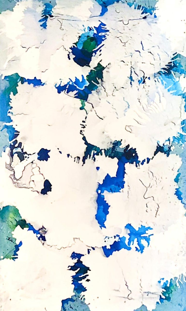 Barbara Coburn Abstract Painting - Electric Blue III - Original on Canvas