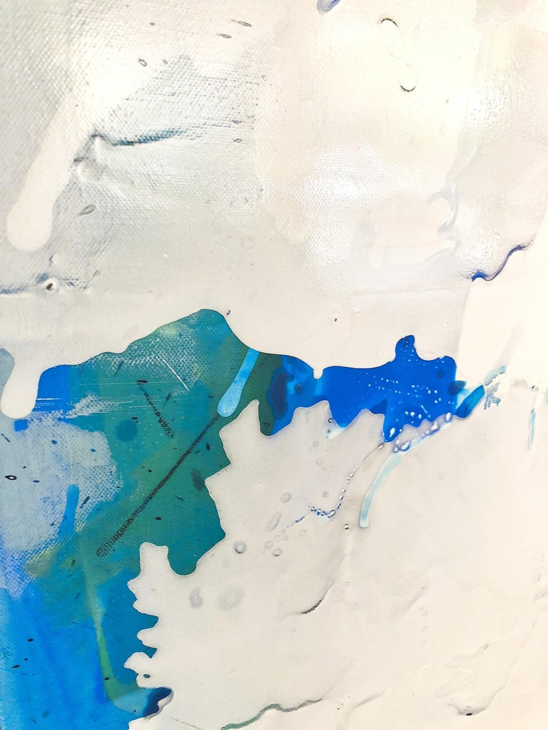Electric Blue III - Original on Canvas For Sale 1