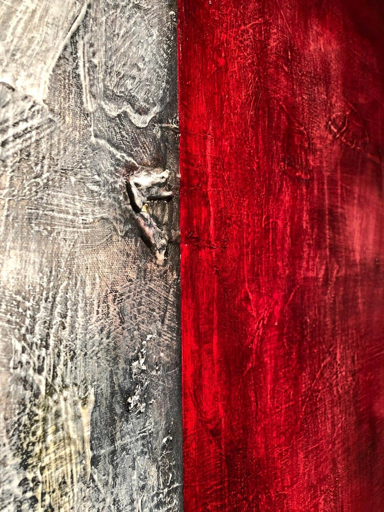 """In describing her paintings Nancy Thayer states, """"While the visual content refers to and suggests forms of nature, they are not meant to be representational or site specific.  My intention is always to communicate the spiritual essence and impact of"""