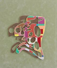 Head, Collage by European Artist Adrian Pojoga 21st Century