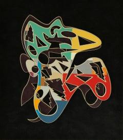 Hector Collage by Artist Adrian Pojoga Decorative 21st Century Art