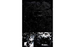 Untitled #4 - Abstract Art by Agathe Toman French Artist Black & White