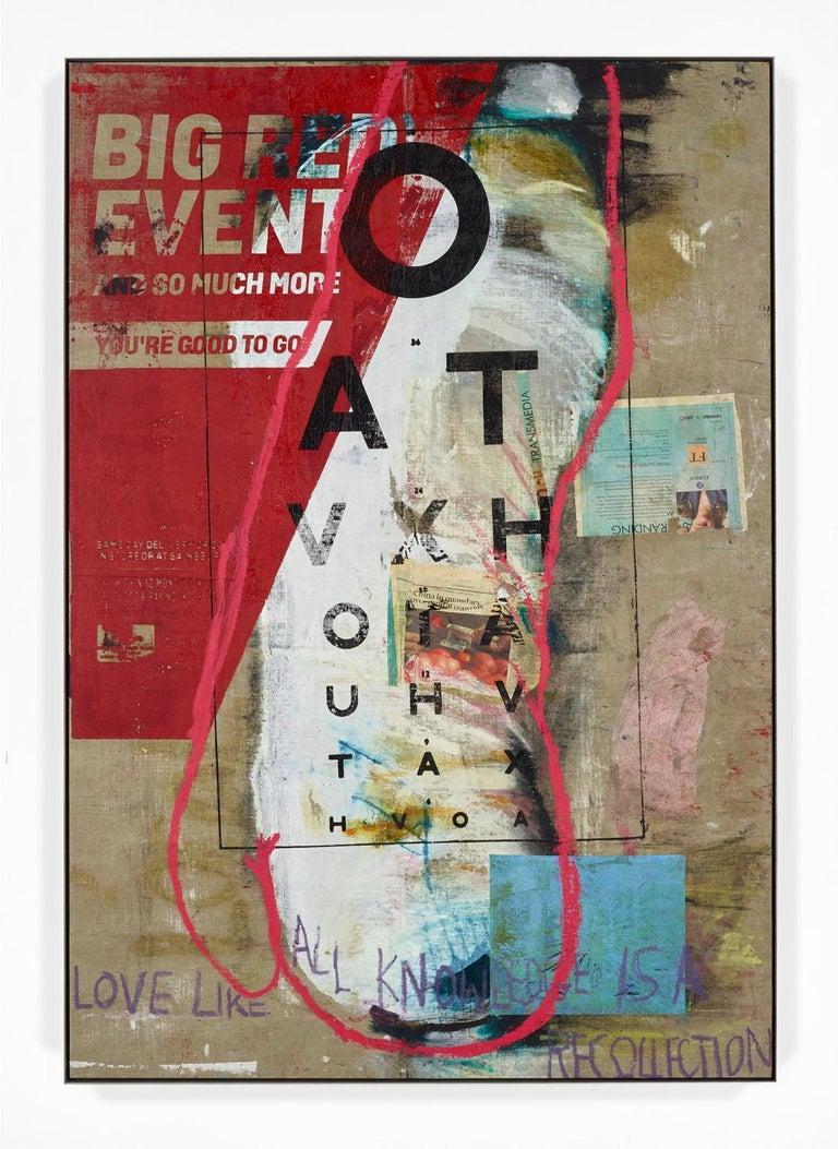 Big Red Event - Mixed Media Art by Mandy El-Sayegh