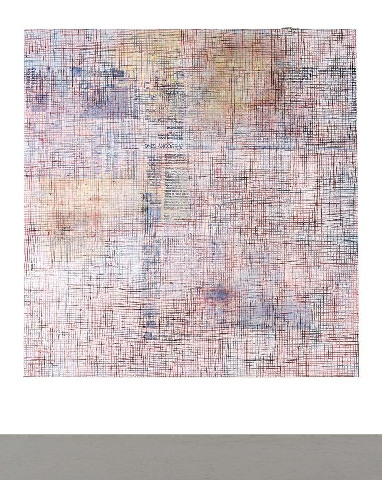 Net-Grid 6 - Mixed Media Art by Mandy El-Sayegh
