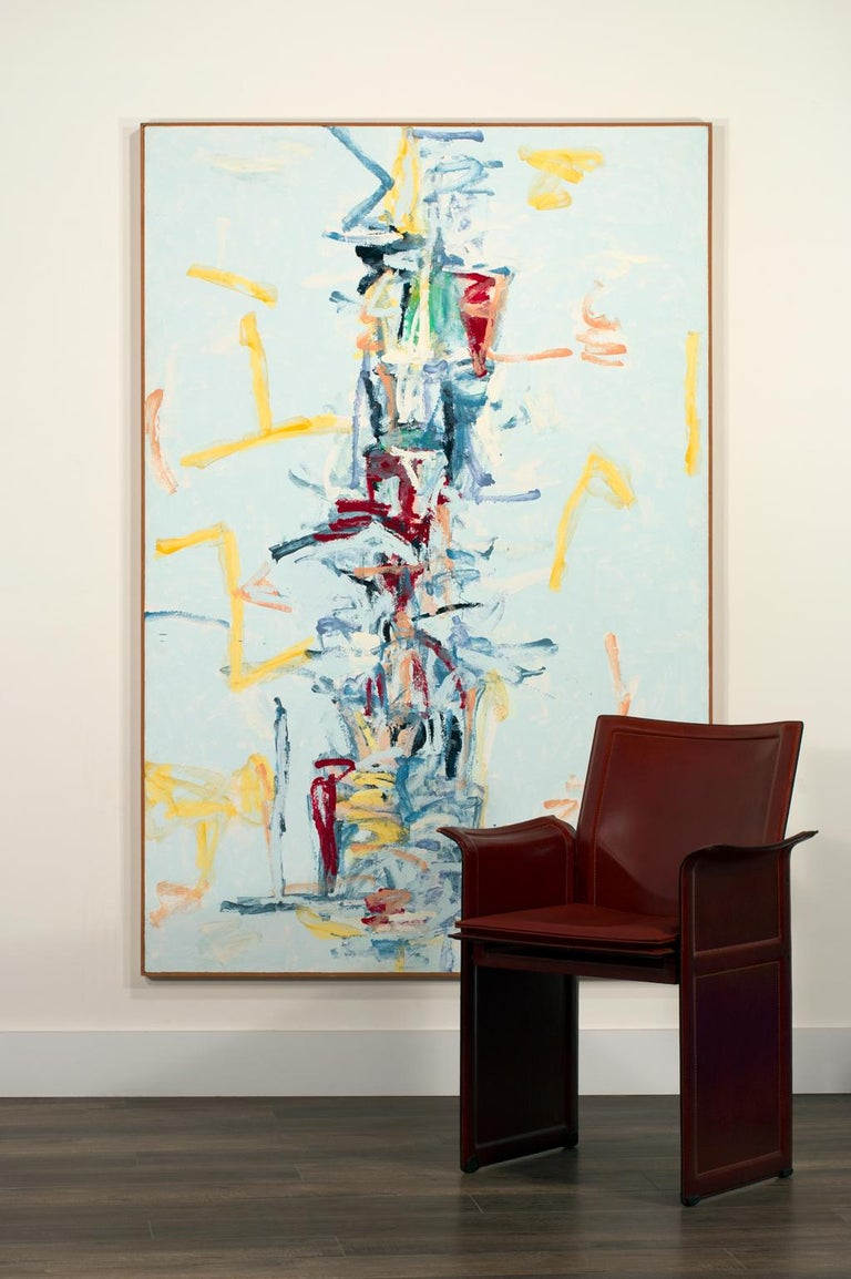 Massive 6-Foot Original Abstract Acrylic Painting on Canvas by Jerrold Burchman For Sale 14