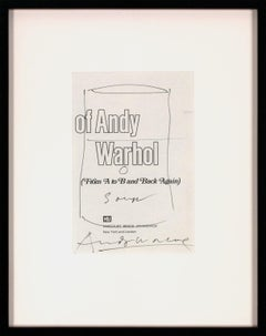 Framed Original Hand-Signed Campbell's Soup Can Pen & Ink Drawing by Andy Warhol