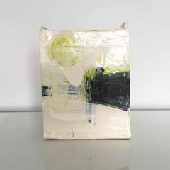 Ceramic Slab Vessel with Painted Glaze: Green B, by Barry Stedman