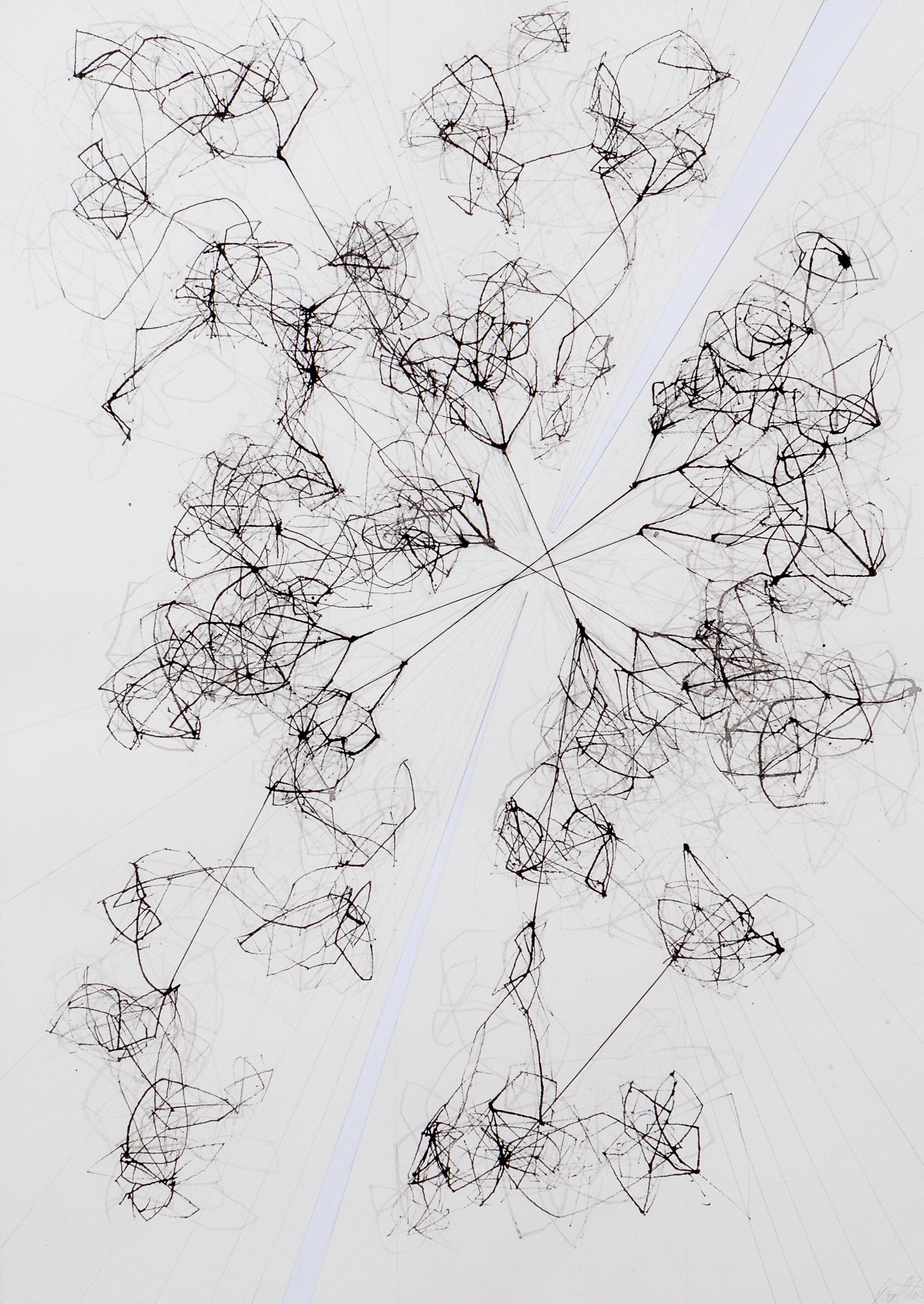 TAWI: Networks, Internet and Connections Drawing by David Watkins