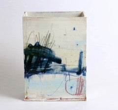 Ceramic Slab Vessel with Painted Glaze: To find a place (series, C)