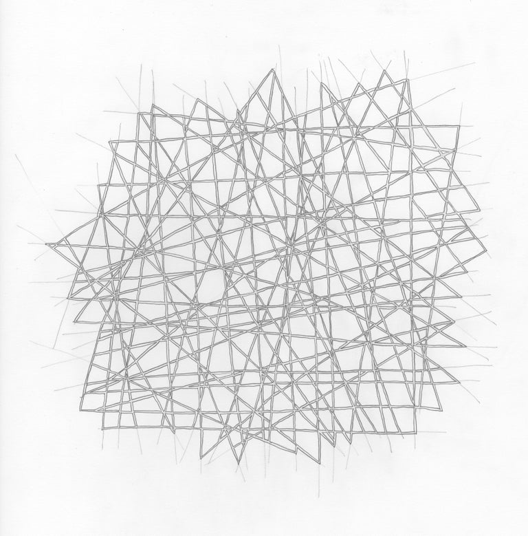 Drawing #152s from a portfolio of 33 Drawings, 2016-18, Pen and graphite on paper (unframed), 13 4/5 × 13 4/5 in; 35 × 35 cm by Alan Franklin  This original drawing on paper is from a portfolio of 33 drawings by the sculptor and artist, Alan