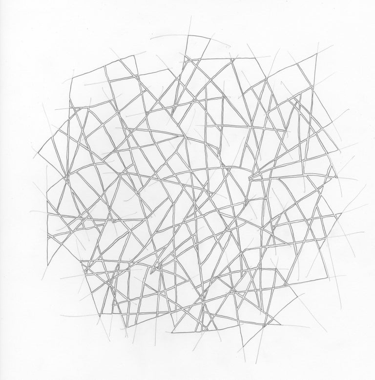 Drawing #153s from a portfolio of 33 Drawings, 2016-18, Pen and graphite on paper (unframed), 13 4/5 × 13 4/5 in; 35 × 35 cm by Alan Franklin  This original drawing on paper is from a portfolio of 33 drawings by the sculptor and artist, Alan