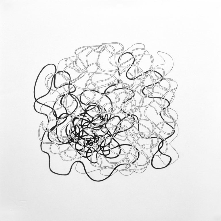 Drawing #164s from a portfolio of 33 Drawings, 2016-18, Graphite and ink on paper (unframed), 13 4/5 × 13 4/5 in; 35 × 35 cm by Alan Franklin  This original drawing on paper is from a portfolio of 33 drawings by the sculptor and artist, Alan