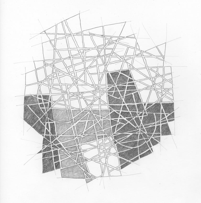 Drawing #156s from a portfolio of 33 Drawings, 2016-18, Graphite on paper (unframed), 13 4/5 × 13 4/5 in; 35 × 35 cm by Alan Franklin  This original drawing on paper is from a portfolio of 33 drawings by the sculptor and artist, Alan Franklin. Alan