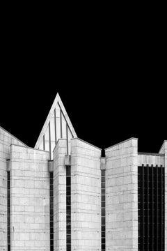Black & White Photograph of Brutalist Architecture, Edinburgh by Egle Kisieliute