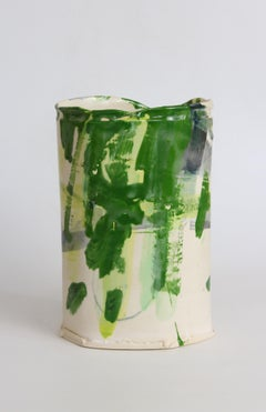 Thrown and Altered Vessel: Green for Shade (series) I, by Barry Stedman