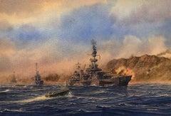 USS Salt Lake City at Iwo Jima